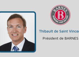 Thibault de Saint Vincent, Président de BARNES.