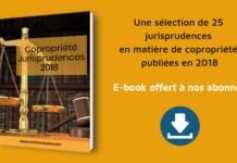 jurisprudences de la copropriété