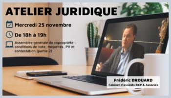 Atelier juridique novembre 2020 - Assemblée générale de copropriété