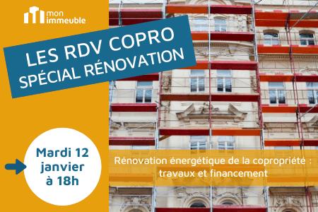 RDV COPRO - spécial rénovation