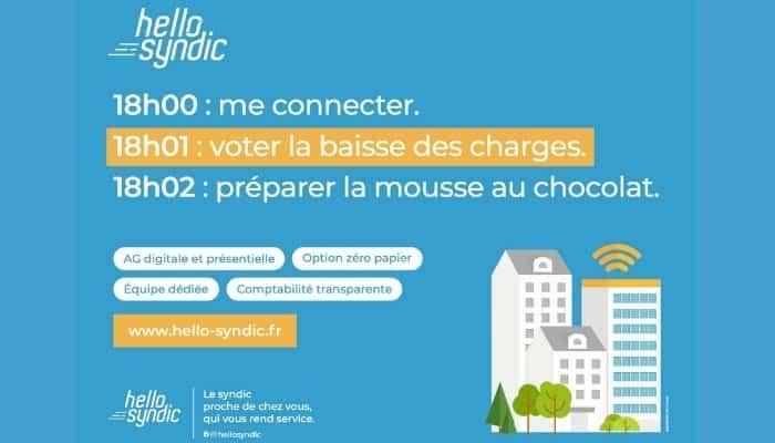 """Hello Syndic : campagne d'affichage pour un syndic """"nouvelle génération"""""""