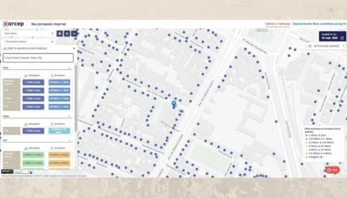 Accès à Internet : une carte pour connaître les débits près de chez soi