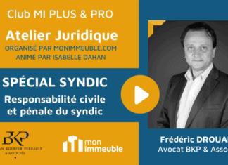 Atelier Juridique - Responsabilité civile et pénale du syndic
