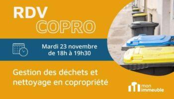 RDV COPRO Novembre 2021 - Gestion des déchets et nettoyage en copropriété